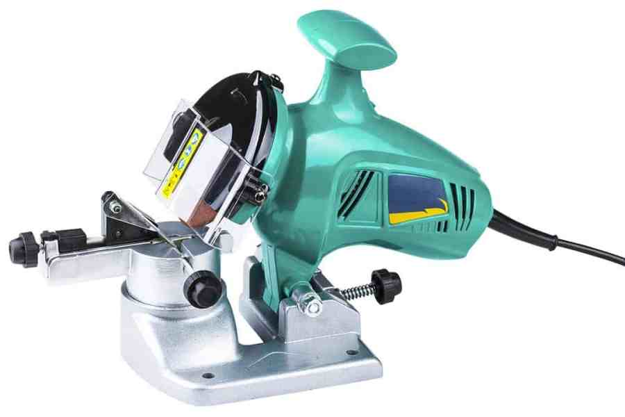 Bench mounted product - electric chain saw sharpener