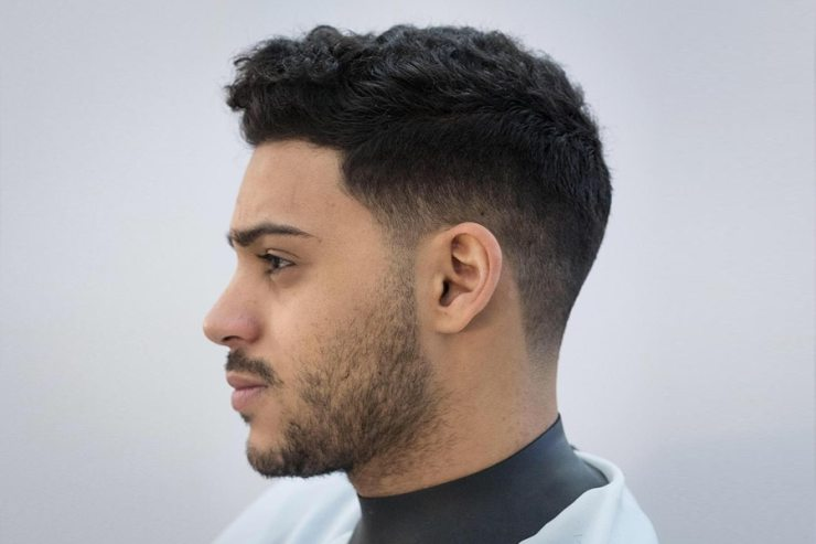 Man with curly short haircut hairstyle