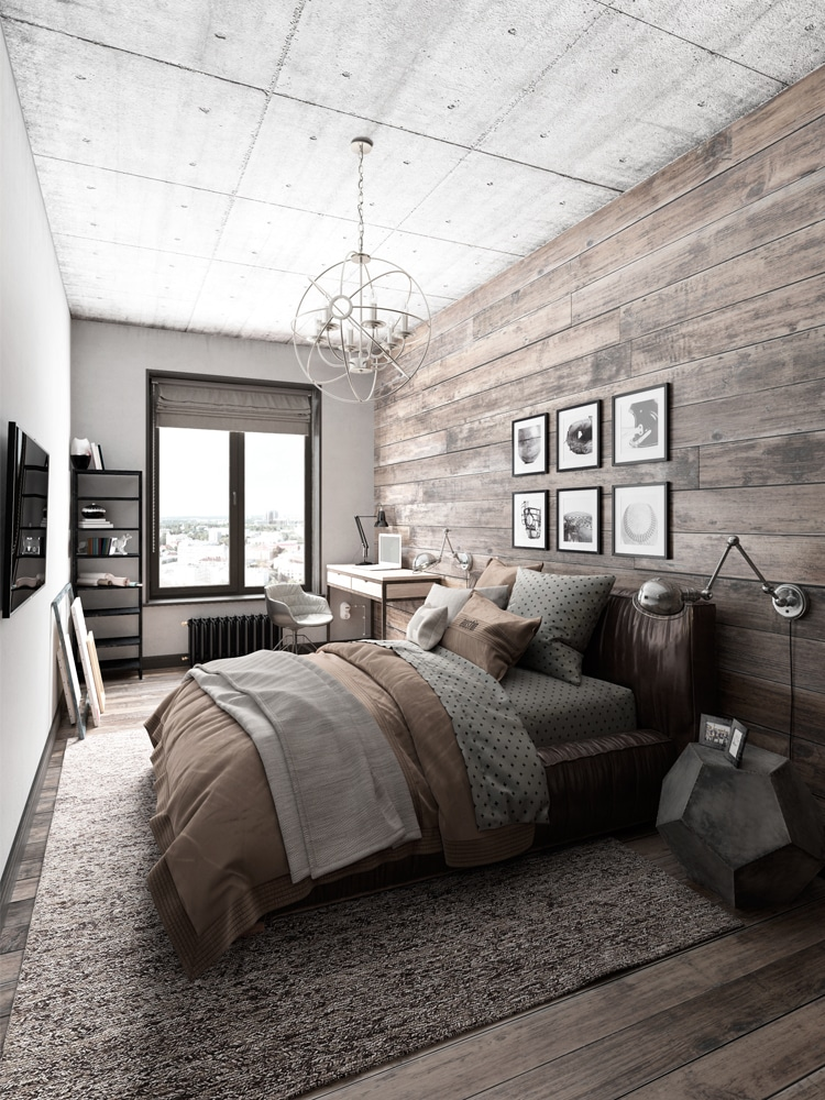 40+ Masculine Bedroom Ideas & Inspirations | Man of Many on Guys Small Bedroom Ideas  id=96547