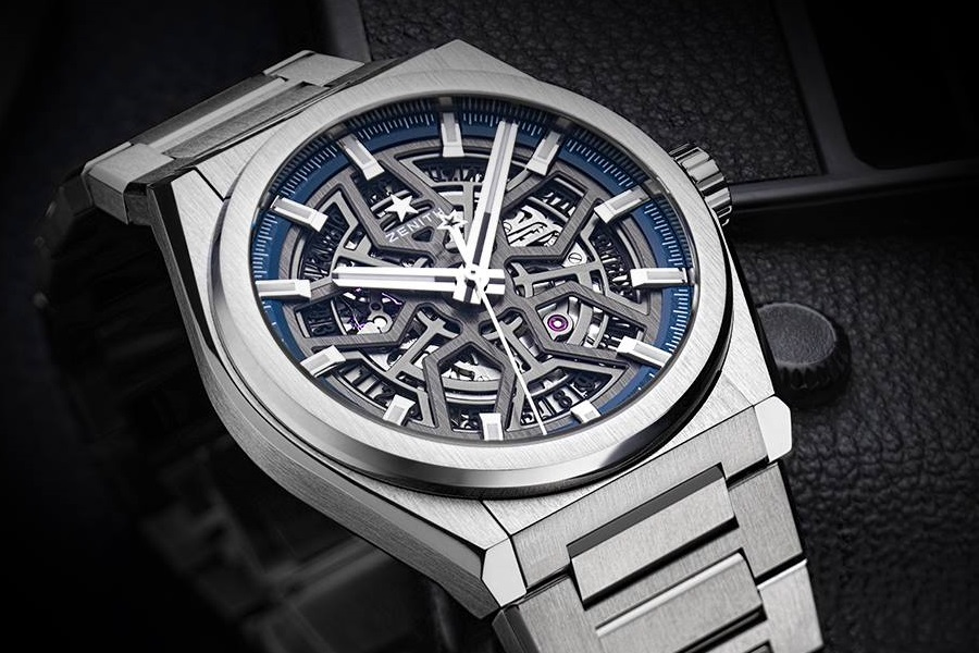 Zenith Defy Classic Skeleton watch with steel band