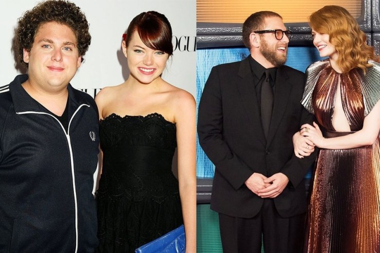 Jonah Hill Weight Loss comparison with Emma stone