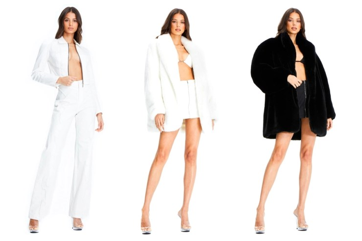 Model in Iam gia clothing