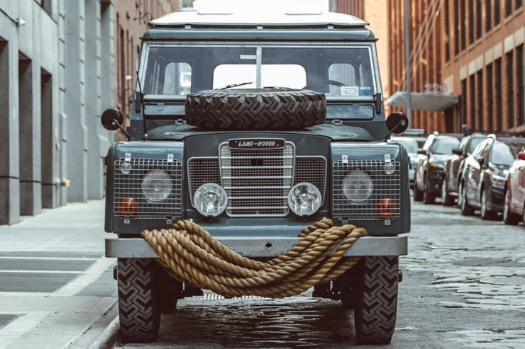 front view land rover