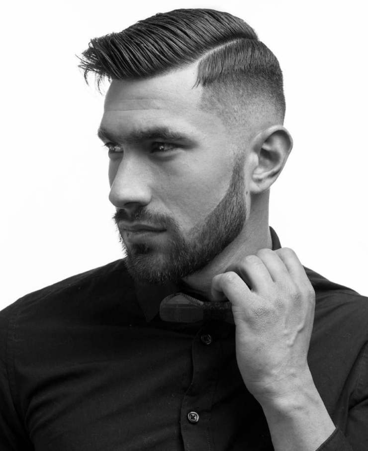Short Haircut & Hairstyle for Man - Comb Over