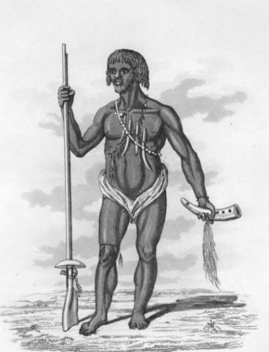 Ashanti warrior c. 1824 Wikipedia source