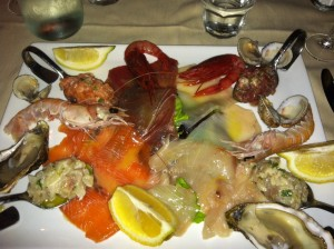 Italian Seafood Spread from Osteria di Brera in Milan