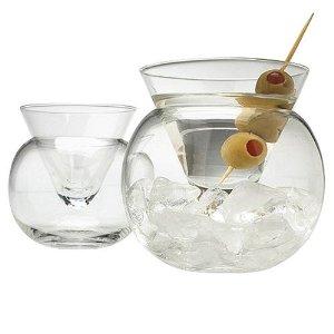 Stemless Martini Glass set