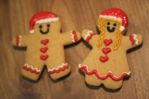 Christmas Gingerbread Men and Women, BEFORE