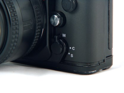 Autofocus can be switched off. Active, it can be either one-time or continuous.