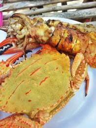 Crab & Stuffed Squid