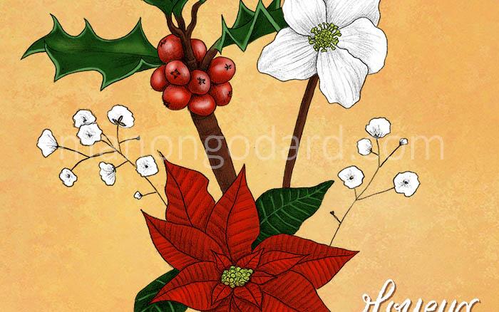 Illustration végétale «Joyeux Noël !»