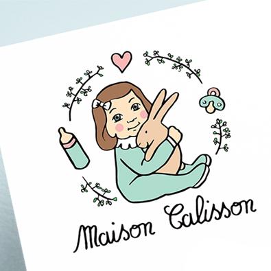 Logo pour l'entreprise Maison Calisson, entrepreneuse assistante maternelle - Graphiste : Manon Godard