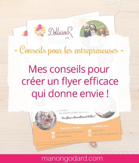"""""""Mes conseils pour créer un flyer efficace qui donne envie"""" par Manon Godard"""