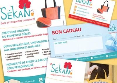 Identité visuelle de SéKan (logo, carte de visite, flyer…)