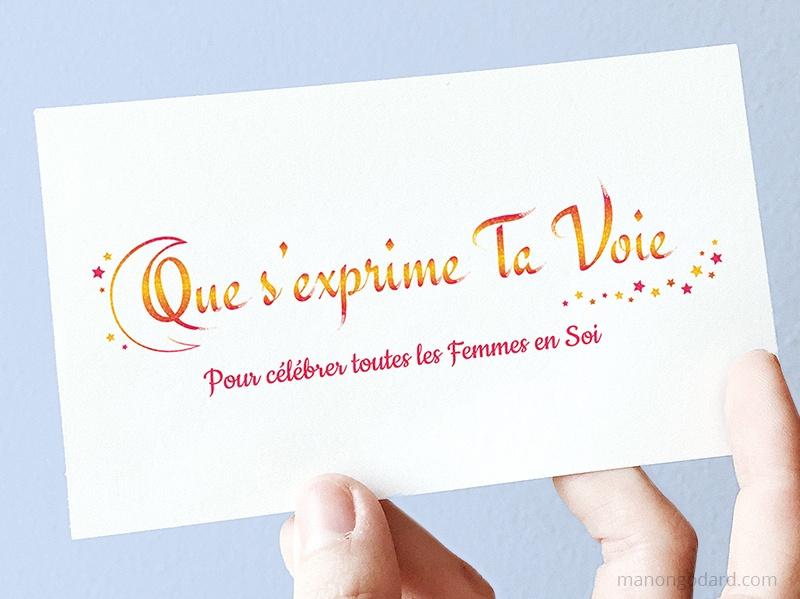 Logo de Que s'exprime Ta Voie, entrepreneuse accompagnement des femmes - Développement personnel, coaching, spiritualité - Logo créé par Manon Godard, graphiste et webdesigner pour les entrepreneuses