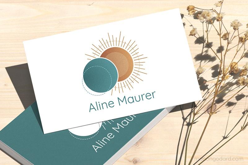 Identité visuelle de Ailes & Racines Coaching, entrepreneuse coach, représentant un arbre, par Manon Godard