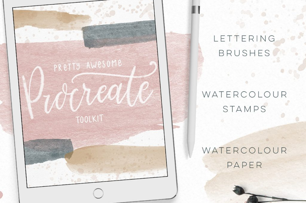Procreate Watercolor brushes and stamps