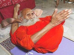 Swami Strikes a Pose