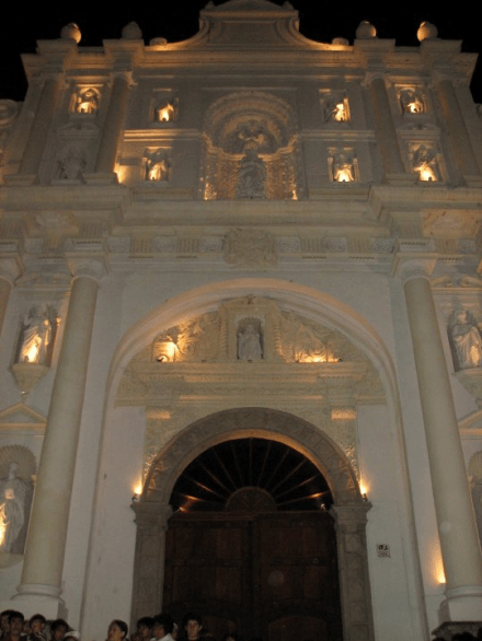 Semana Santa Have you been to Semana Santa -- Holy Week in Antigua, Guatemala Antigua Guatemala Main Cathedral at Night