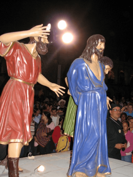 Semana Santa Holy Week Antigua Guatemala at Night Jesus
