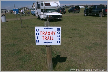 Trashy Trail sign