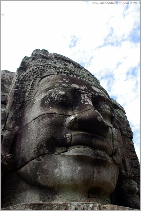 Close-up Face of Avalokeshvara, Bayon, Angkor, Cambodia