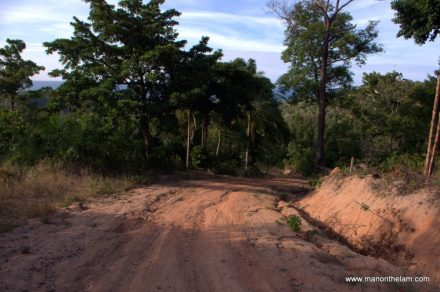 Dirt Road to Mae Haad Beach, Koh Phangnan, Thailand