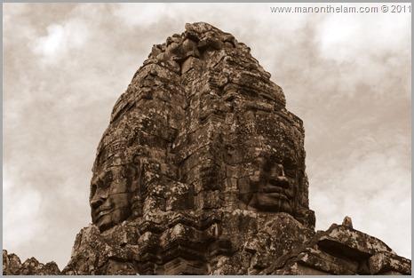 Faces of Avalokeshvara, Bayon, Angkor, Cambodia (2)