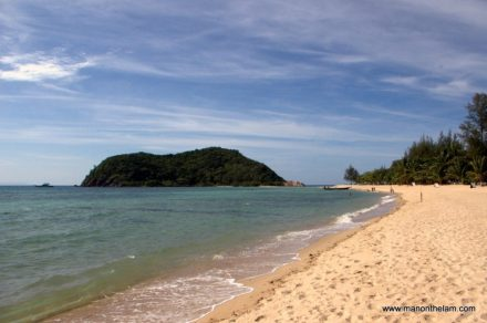 Mae Haad Beach looking towards Koh Ma
