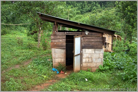 Outhouse, Hill Tribe, Northern Thailand