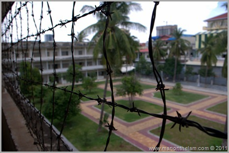 Tuol Sleng Genocide Museum barbed wire