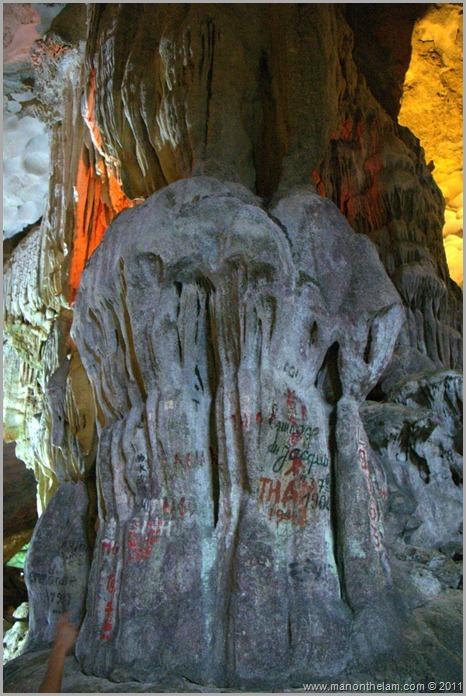 Grafitti in Surprise Cave
