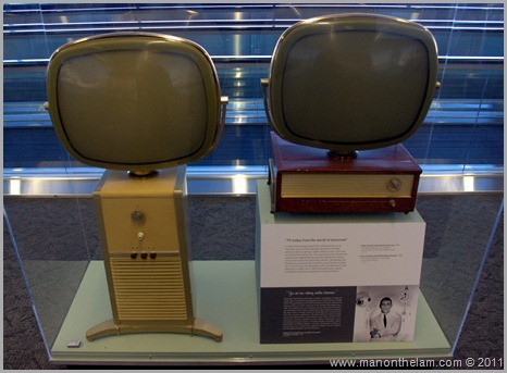 Retro antique television sets, San Francisco Airport museum