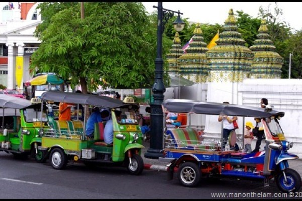 Tuk-tuk drivers in Bangkok, Thailand