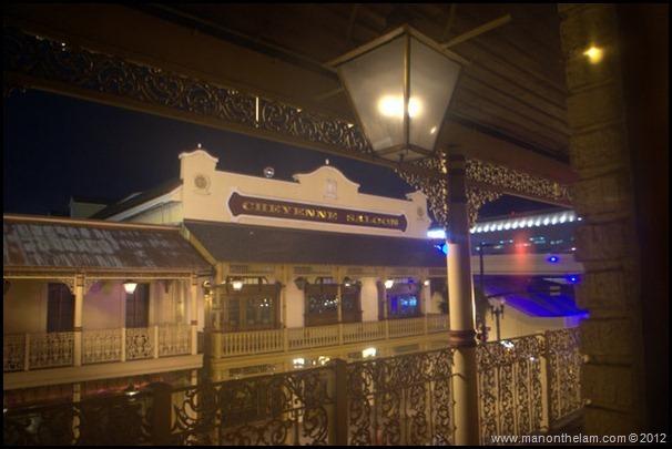 Cheyenne Saloon building at night, Church Street -- downtown Orlando --American Ghost Adventures, Orlando, Florida - Aeroplan