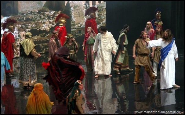 Jesus smites the devil -- The Passion -- Holy Land Experience