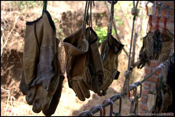 Zip wire gloves -- Huana Coa Canopy Adventure Zip Line Tour, Mazatlan, Mexico, #GoMazatlanNow