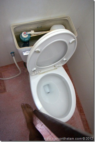 Toilet missing lid
