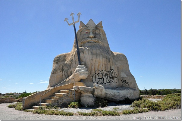King Neptune, Abandoned Atlantis Marine Water Park, Perth, Australia