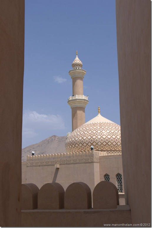 View of Nizwa Mosque from Nizwa Fort, Oman