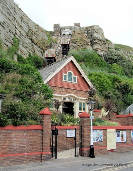 The East Cliff Lift Hastings Sussex seaside towns near London