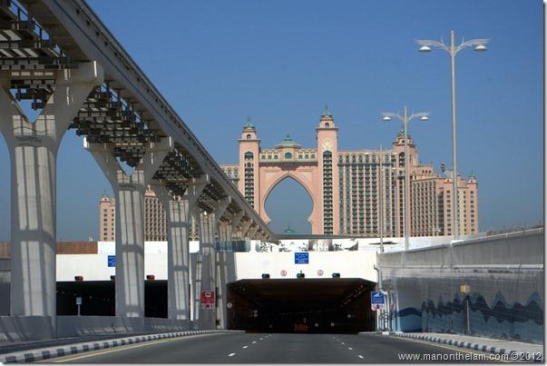 tunnel to Atlantis Hotel, The Palms, Dubai, UAE