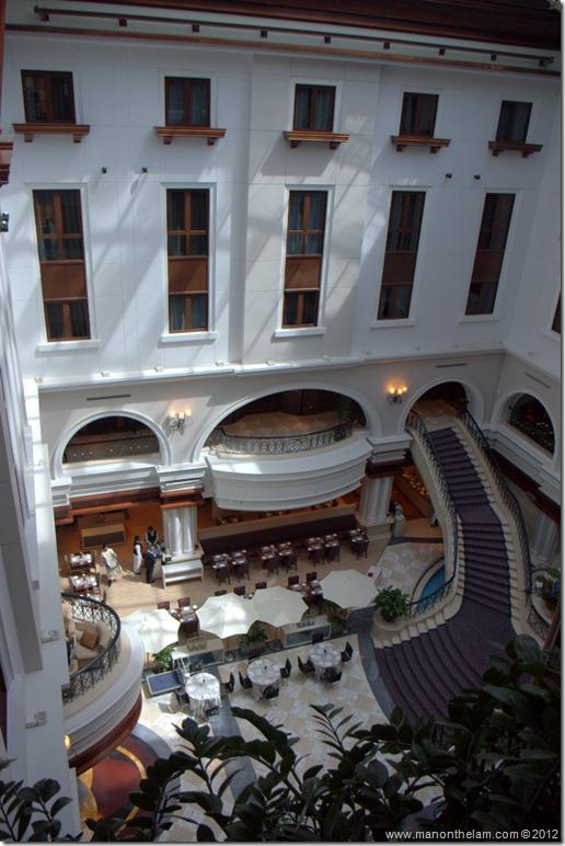 Lobby from above -- Mövenpick Hotel Bur Dubai, Dubai, UAE