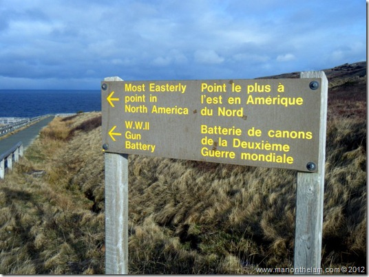 Most Easterly Point in North America Sign this is my canada