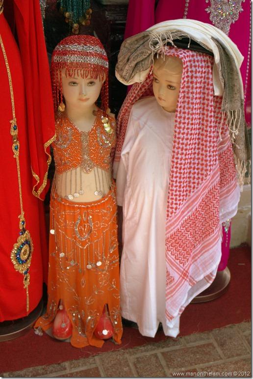 child mannequins in Arabic clothing dubai private tour