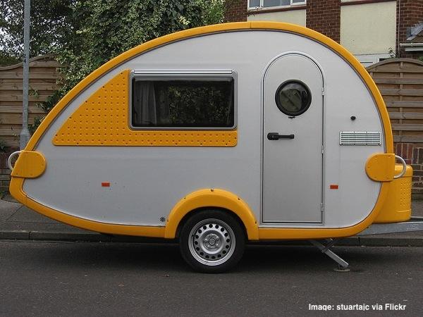 Yellow bug caravan unique campers unique caravans