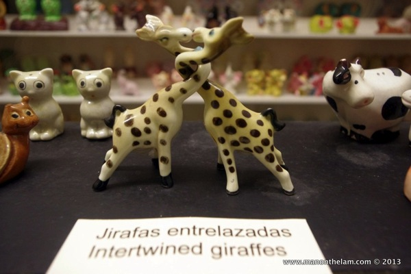 Intertwined Giraffes Salt and Pepper Shaker Museum Guadalest Spain