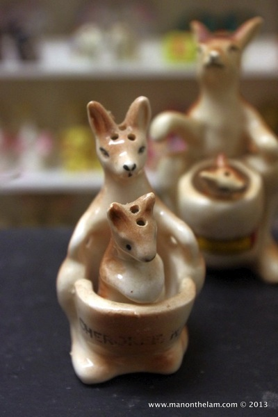 Kangaroo with Joey in pouch Salt and Pepper Shakers Guadalest Spain