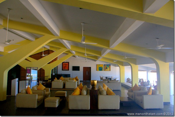 Lounge at Jetwing Blue hotel, Negombo Sri Lanka
