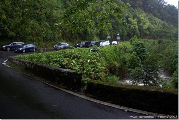 Traffic along the Road to Hana, Maui